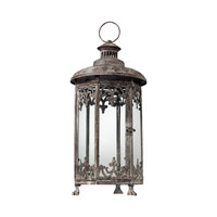 Sterling Industries Hurricane Lantern In Distressed Finish - Hexagonal Decorative Accessory in Terra Nova 128-1031