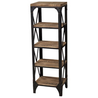 Sterling Industries Industrial Shelves Shelf in Washed Pine / Restoration Black 129-1003