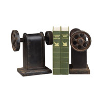 Sterling Industries Industrial Book Press Book Ends Decorative Accessory in Restoration Rusted Black 129-1008/S2