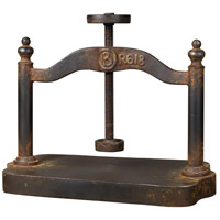 Book Press Restoration Rusted Black Decorative Object
