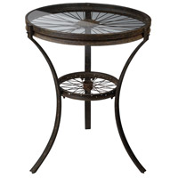Sterling Industries Industrial Style Side Table in Restoration Rusted Black 129-1011