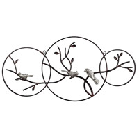 Birds on a Branch Rust / Silver Wall Art