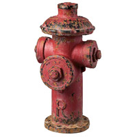Sterling Industries Fire Hydrant Decor Decorative Accessory in Fire Hydrant Red 129-1025