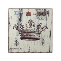 Sterling Industries White Crown Print Wall Decor Decorative Accessory in Washed White 129-1031
