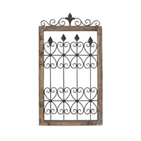 Sterling Industries Wall Decor in Bleached Wood / Blackened Iron 129-1033
