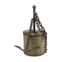 Sterling Industries Anchor In Post Decorative Accessory in Blackened Rust And Natural Rope 129-1038