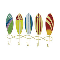 Sterling Industries Surfboard Wall Hooks in Multi 129-1043