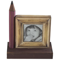 Sterling Industries Pencil Picture Frame (Sm) in Bassit Yellow / Pink 129-1048