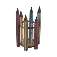 Sterling Industries Pencil Holder in Bassit Multi 129-1052