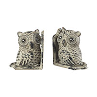 Sterling Industries Owls Bookends in Grappa Gray 129-1053