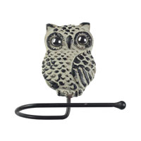 Sterling Industries Owl Hook in Grappa Gray 129-1054
