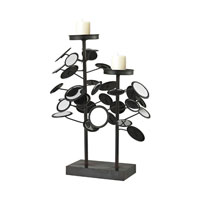 Sterling Industries Iron And Mirror Candle Holders in Belem Black / Mirror 129-1056