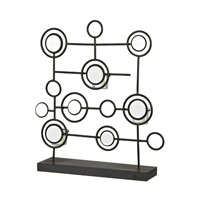 Sterling Industries Iron And Mirror Tea Light Stand in Belem Black / Mirror 129-1059