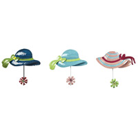 Sterling Industries Sun Hat Hook in Impact Royal Blue / Teal / Pink 129-1071