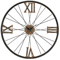 Sterling Signature Clock in Rust and Bronze 129-1088