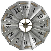Sterling Signature Clock in Galvanised Metal and Natural Rope 129-1091