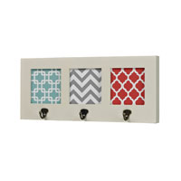 Sterling Chevron Hook in Off White With Chevron Print 129-1103