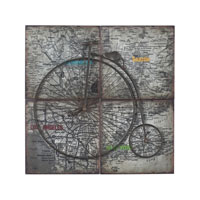 Sterling 129-1105 Penny Farthing 36 X 36 inch Metal Wall Art