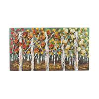 Autumn Birch 37 X 20 inch Metal Wall Art