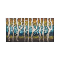 Sterling Queen Lake Wall Decor in Multi Colored Hand Painted 129-1109