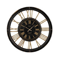 Sterling Industries Hotel Nior Paris Clock in Antique Black and Cream 130-002