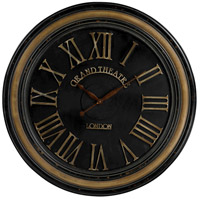 Sterling Industries Grand Theatre London Clock in Berkshire Black and Antiqued Cream 130-006