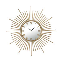 Sterling Signature Clock in Gold Leaf 132-004