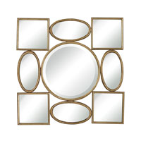 Sterling Signature Mirror in Gold Leaf With Black Antique 132-013