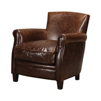 Sterling Signature Chair in Mahogany and Dark Tan 133-005