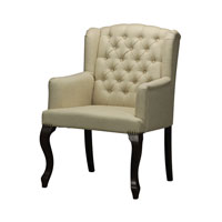 Signature Mahogany and Cream Arm Chair