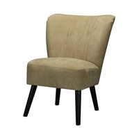 Signature Dark Mahogany and Cream Accent Chair