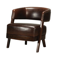 Sterling Signature Chair in Mahogany and Dark Tan 133-009