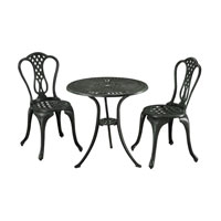 Sterling Signature Outdoor Bistro Set in Dark Bronze 134-001/S3
