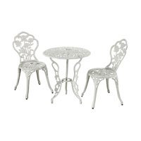 Sterling Signature Outdoor Bistro Set in White 134-002/S3