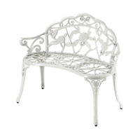 Sterling Signature Outdoor Bench in White 134-003