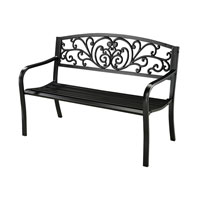 Sterling Signature Outdoor Bench in Black 134-005