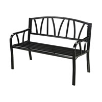 Sterling Signature Outdoor Bench in Black 134-006