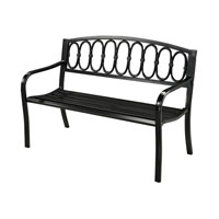 Sterling Signature Outdoor Bench in Black 134-007