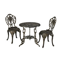 Sterling Signature Outdoor Bistro Set in Brown 134-009/S3