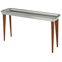 Sterling Signature Console Table in Bright Chestnut and Mirror 135-001