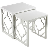 Sterling Signature Nesting Table in Matt White 136-007/S2
