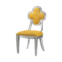 Sterling Petal Back Dining Chair in Yellow 136-008