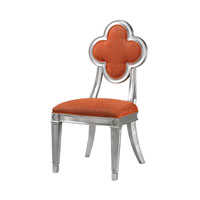 Petal Back Dining Orange Chair Home Decor