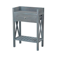 Biscayne 24 X 13 inch Blue Wash Side Table Home Decor