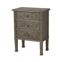 Sterling Lindrick Chest in Wood Tone with White 137-017