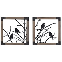 Sterling Ollerton Wall Decor in Black 137-018/S2