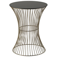 Sterling Thurcott Side Table in Gold Paint With Black Acrylic Top 137-021