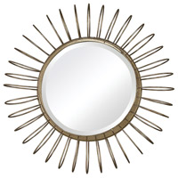 Sterling Green Field Mirror in Gold Leaf 138-001