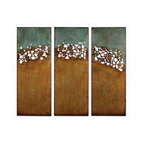 Sterling Hollingworth Wall Decor in Turquoize and Gold Paint 138-011/S3