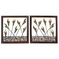 Sterling 138-012/S2 Delph 16 X 16 inch Metal Wall Art